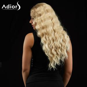 Adiors Long Wavy Centre Parting Shaggy Synthetic Wig - COLORMIX