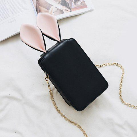 Buy Rabbit Ear Cross Body Chains Bag - Black
