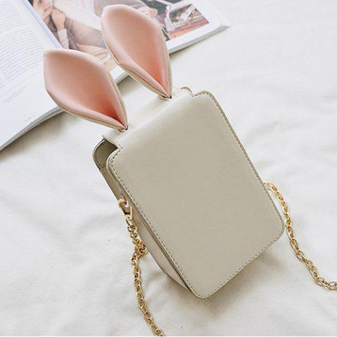 Buy Rabbit Ear Cross Body Chains Bag - White