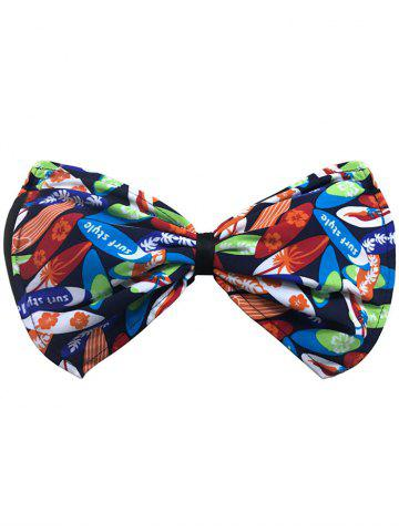 Fashion Bowknot Floral Bandeau Bikini Top BLUE AND ORANGE XL