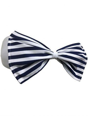 Hot Strapless Striped Wirefree Padded Bowknot Bandeau Bikini Bra - XL CADETBLUE Mobile