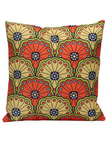 Affordable National Style Floral Print Decorative Pillow Case - 45*45CM COLORMIX Mobile