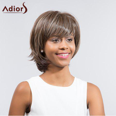 Chic Adiors Short Layered Cut Tail Upwards Side Bang Synthetic Wig - COLORMIX  Mobile