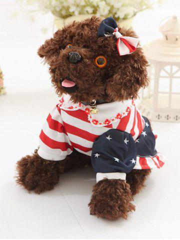 Habillé Peter Pan Collar Vêtements bowknot Teddy Toy Dog