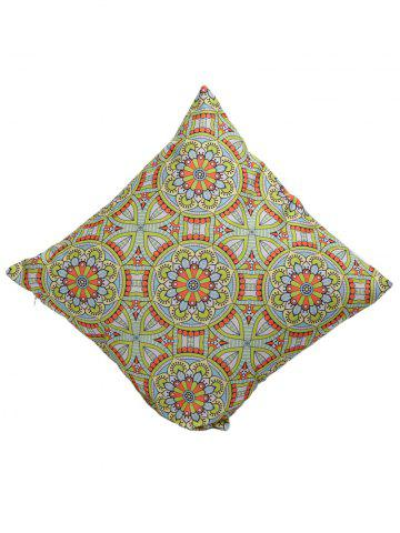Outfit Ethnic Style Flower Print Linen Pillow Cover - 45*45CM COLORMIX Mobile