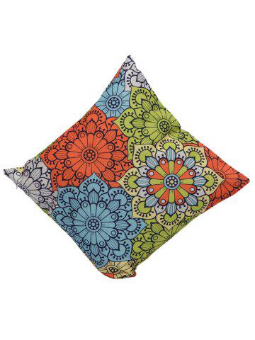Chic Ethnic Floral Back Cushion Throw Pillowcase - 45*45CM COLORMIX Mobile