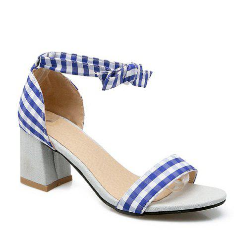 Sale Plaid Ankle Strap Sandals