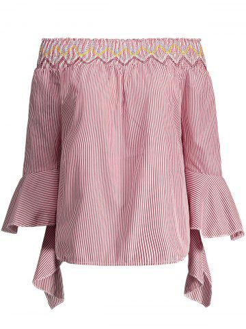 Latest Off The Shoulder Bell Sleeves Top