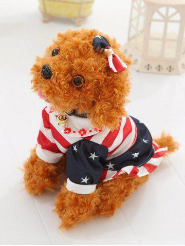 Best Dressed Peter Pan Collar Bowknot Flower Teddy Dog Toy LIGHT BROWN SIT 30CM