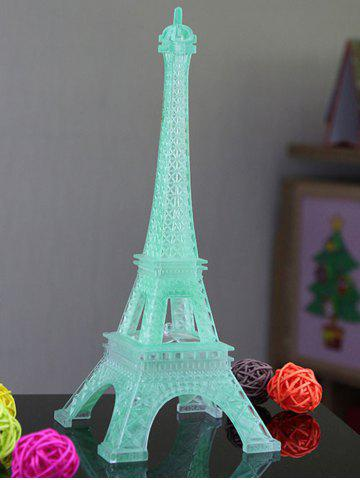 Outfits Colorful Eiffel Tower Shape LED Night Light - WHITE  Mobile