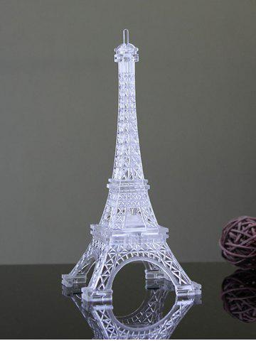 Store Colorful Eiffel Tower Shape LED Night Light - WHITE  Mobile