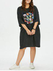 Pathed Plus Size T Shirt Casual Dress