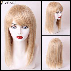 Siv Hair Long Silky Straight Hairstyle Side Bang Capless Human Hair Wig
