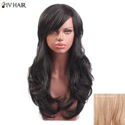 Siv Hair Long Side Bang Slightly Curly Capless Human Hair Wig