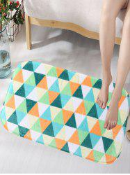 Create Triangles Skidproof Flannel Area Bath Mat