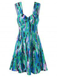 Sweetheart Neck Tie Dye Short Skater Dress