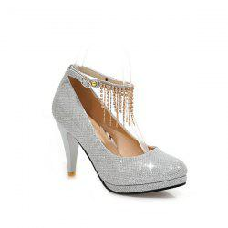 Metallic Color Rhinestones Pumps