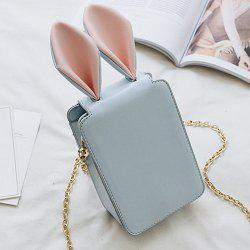 Rabbit Ear Cross Body Chains Bag - BLUE