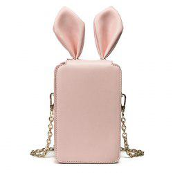 Lapin oreille Chains Cross Body Bag - ROSE PÂLE