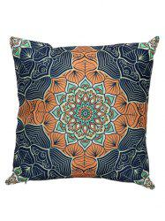 Ethnic Printed Linen Throw Pillow Case Cover - COLORMIX