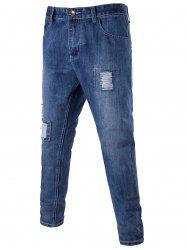 Destroyed Patch Tapered Jeans