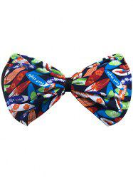 Bowknot Floral Bandeau Bikini Top - BLUE AND ORANGE XL
