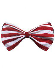 Strapless Striped Wirefree Padded Bowknot Bandeau Bikini Bra - RED XL