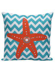 Starfish Wavy Print Decorative Throw Pillow Case