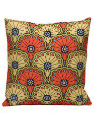 National Style Floral Print Decorative Pillow Case