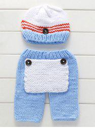 Big Pocket Photography Knitted Baby Pants and Hat