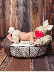 Rabbit Shape Baby Knitted Blanket Set For Sale
