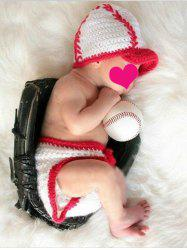 Baby Knitted Sweater Baseball Blanket Set For Sale
