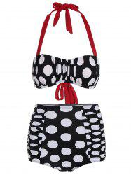 High Waisted Polka Dot Bikini -