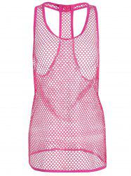 Sleeveless Openwork Mesh Beach Cover-Up