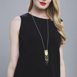 Geometric Fringed Alloy Sweater Chain