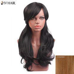 Siv Hair Long Slightly Curly Side Bang Capless Human Hair Wig