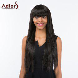 Adiors Long Silky Straight Full Bang Synthetic Wig