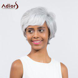 Adiors Short Layered Cut Straight Side Bang Synthetic Wig