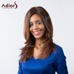 Adiors Long Natural Straight Middle Part Ombre Synthetic Wig