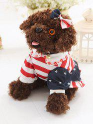 Habillé Peter Pan Collar Vêtements bowknot Teddy Toy Dog -