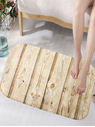 Crafted Wood Texture Skidproof Flannel Artistic Area Bath Mat - WOOD