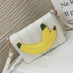 Banana Patches Flap Crossbody Bag - WHITE