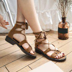 Flat Gladiator Tie Up Flat Sandals