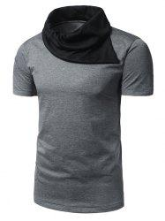 Cowl Neck Two Tone T-Shirt                                                                                                                  hirt