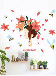 Flower Fairy Wall Stickers For Kids Room