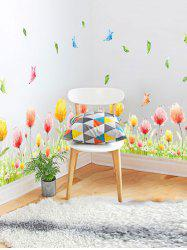 Fancy Butterfly Flower Print Vinyl Decorative Wall Sticker