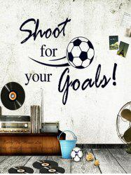 Shoot For Your Goals Football Quotes Decal Sports Vinyl Wall Sticker