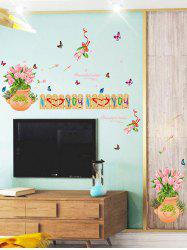 Cartoon Tulips Fence Print Decoration Wall Sticker