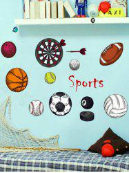 Sports Game Print Sports Wall Stickers For Bedrooms