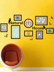 Natural House Waterproof Photo Frame Wall Sticker